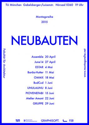 NEUBAUTEN LECTURE TU München, Germany