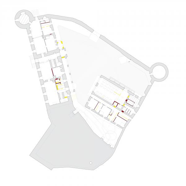 Ground floor plan - MUSEE SUISSE DU JEU, Château de la Tour-de-Peilz, Switzerland