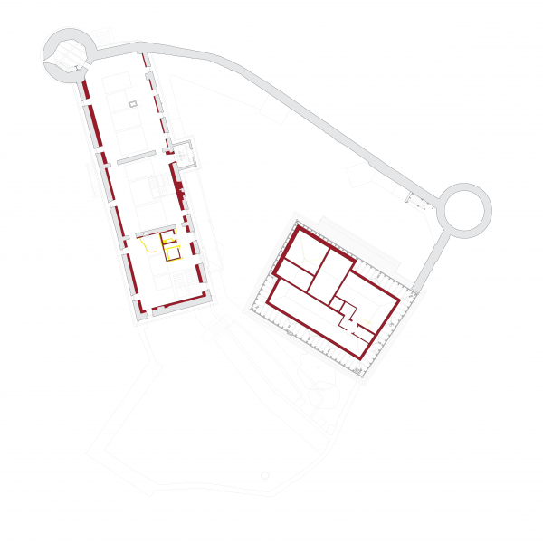 First floor plan - MUSEE SUISSE DU JEU, Château de la Tour-de-Peilz, Switzerland