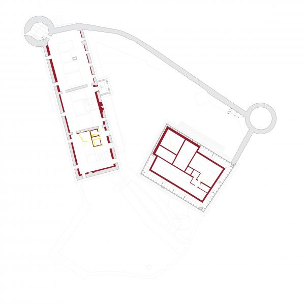 First floor plan - MUSEE SUISSE DU JEU, Château de la Tour-de-Peilz, Switzerland