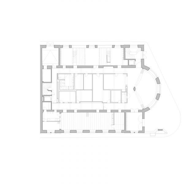 Ground floor plan - ANCIEN MANÈGE GENÈVE